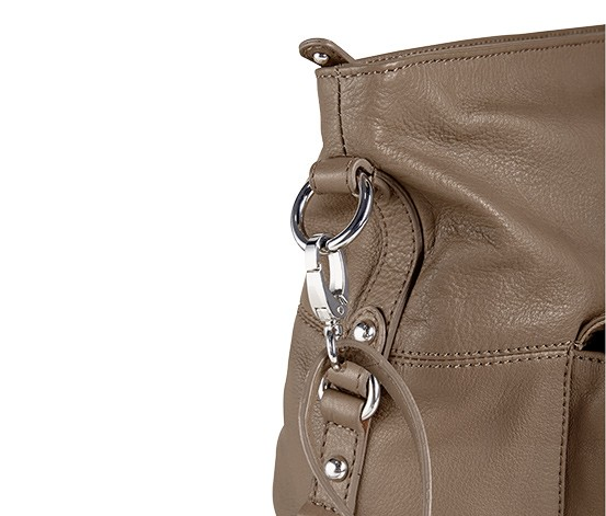 Womens Leather Bag, Beige  Brands For Less