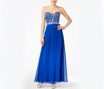 Blondie Nites Juniors Embellished Gown, Neon Royal
