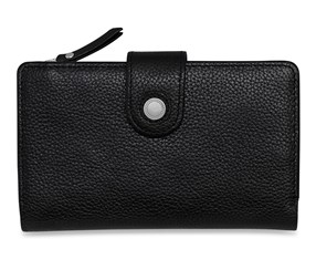 Women's Leather Purse, Medium, Black