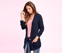 Women's Long Cardigan, Marine
