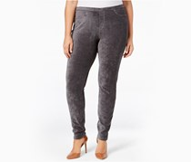 Style & Co. Plus Size Corduroy Leggings,  Carbon Grey