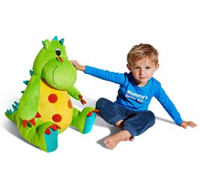 Boys Kids, Jumbo Plush Toy, Dragon, Green