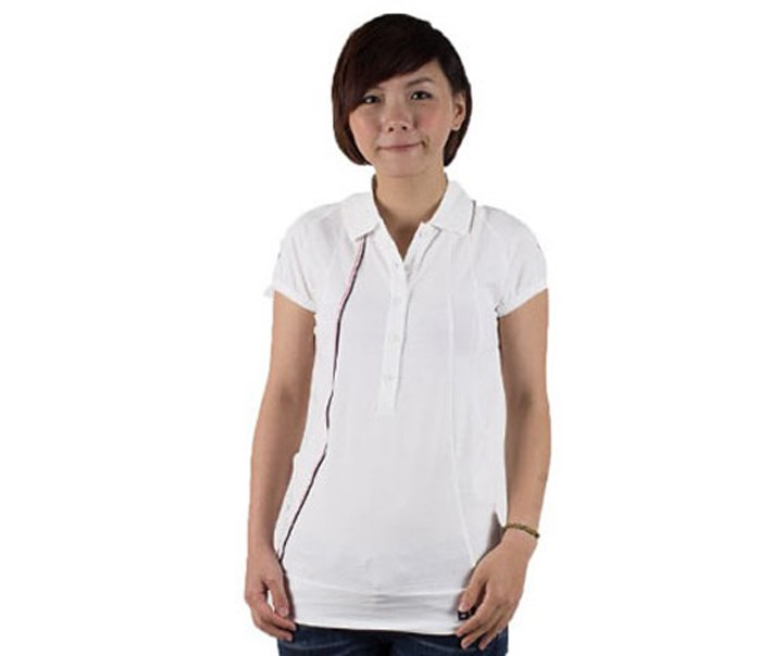 Female BMW Joint Leisure Polo Shirt, White