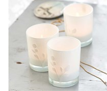Tea Lights in Glass, Set of 3