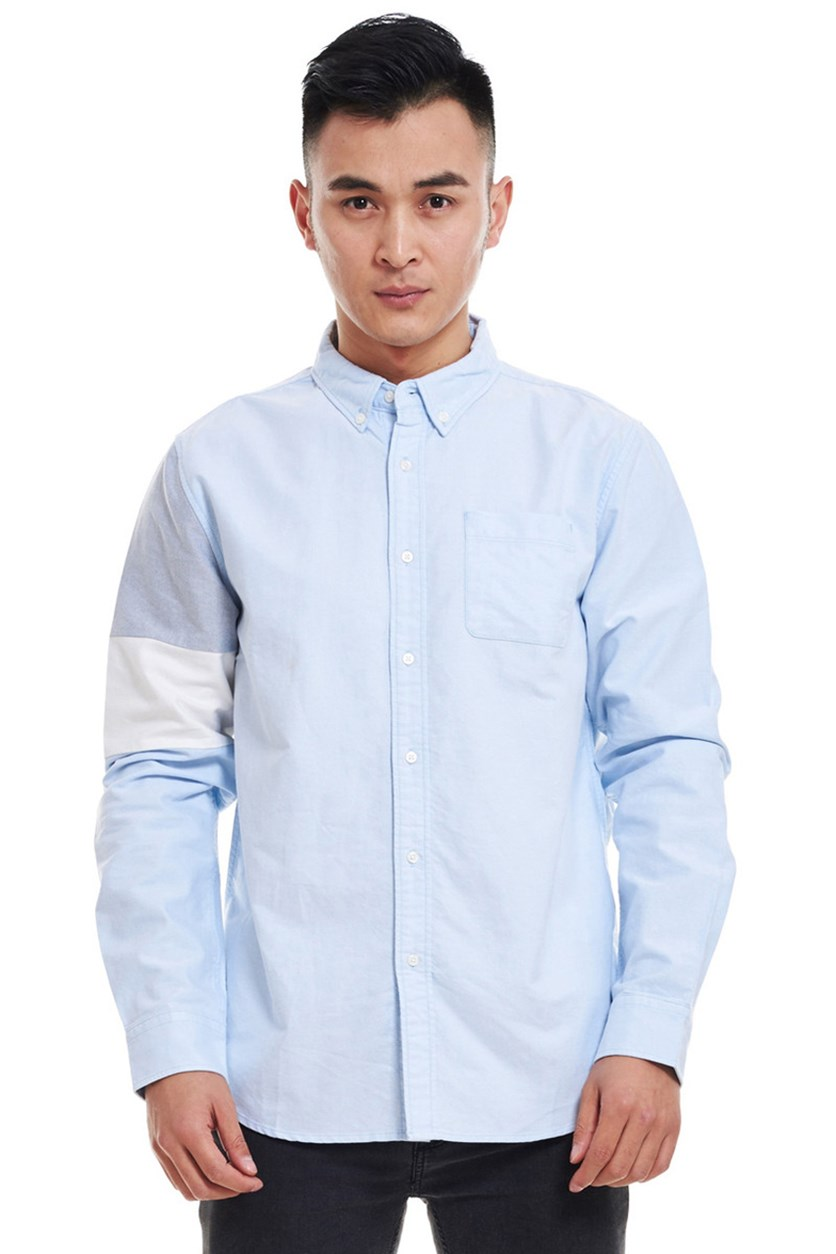 Men's Color Block Shirt, Dusk Blue