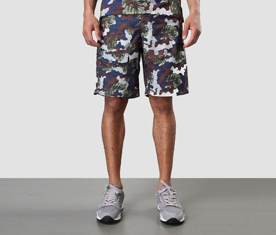 Light Weight Short Pants, Winter Moss-Camo