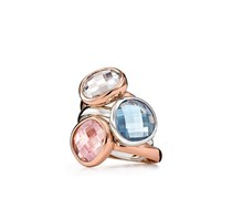 Women's FJ Ring, Rose Gold with Clear Stone