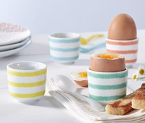 Egg Cup, Set of 4, White Printed