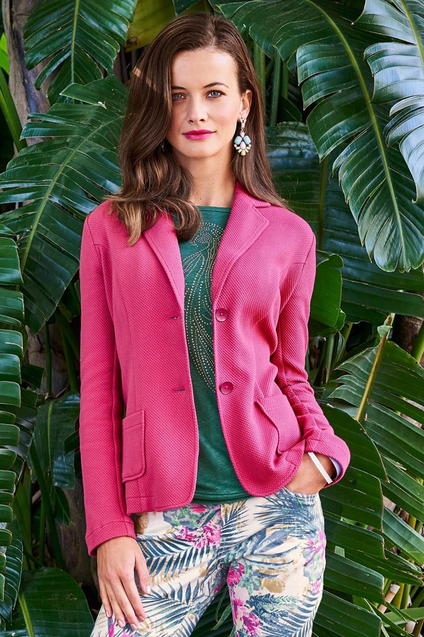 Women's Knitted Blazer, Pink