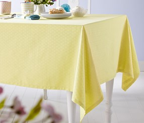Jacquard Table Cloth, Double, Yellow