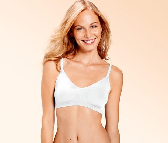 Women's Soft Bra, One Size, White