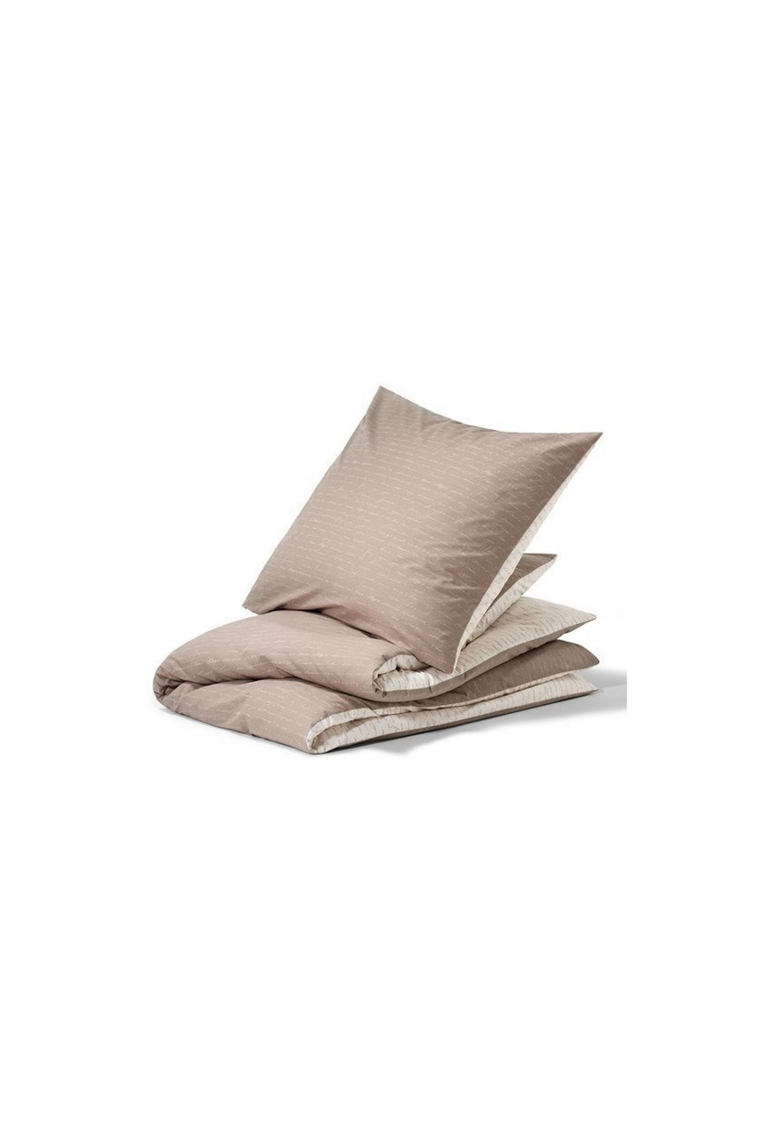 Renforce Duvet Set, Double, Cream/Taupe