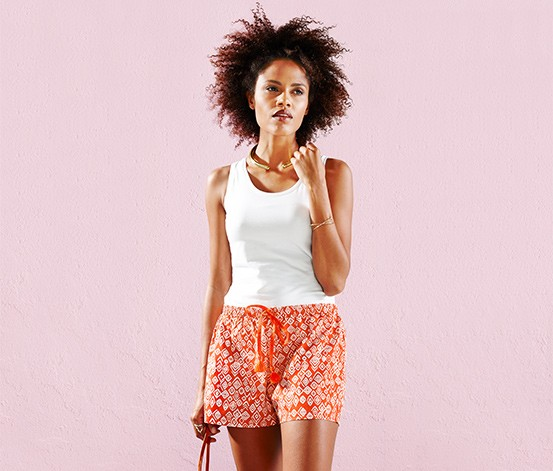 Women's Shorts, Woven, Orange