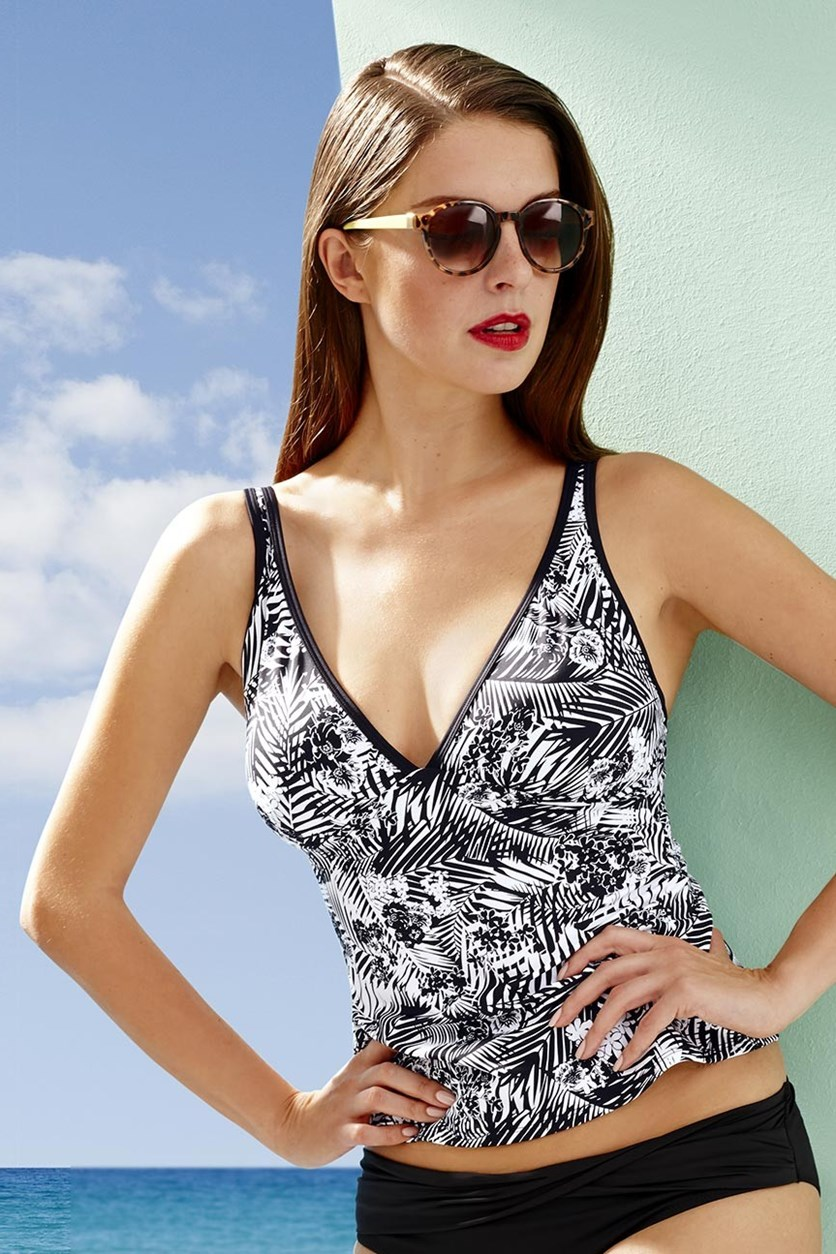 Women's Tankini Top, Black