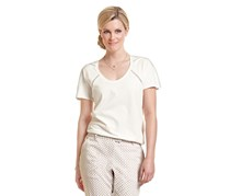 Women's Shirt, Crochet, Offwhite
