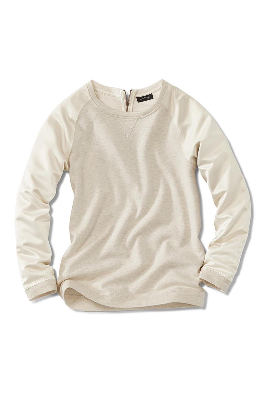 Women's Sweater, Hairy Cream