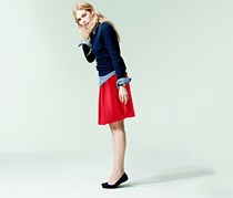 Women's Jersey Skirts, Red