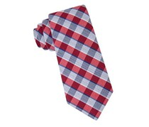 Lord & Taylor Boy's Plaid Neck Tie, Red/Grey