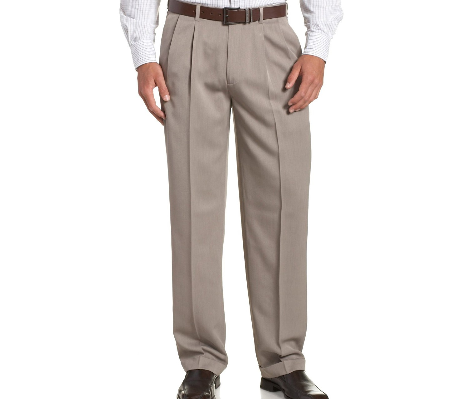 Men S Big And Tall Double Pleated Micro Melange Pant
