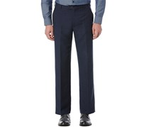 Perry Ellis Portfolio Classic-Fit Flat-Front Linen-Blend Pants, Navy