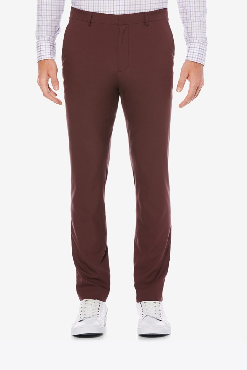 Men's Portfolio Extra Slim-Fit Solid Tech Dress Pants, Royal Black Cherry
