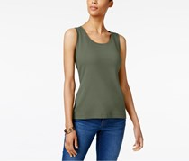 Karen Scott Women's Cotton Tank Top, Olive Vine