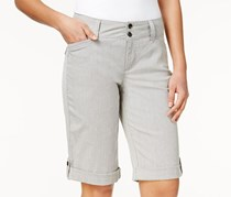 Charter Club Cuffed Patterned Shorts,  Black Combo