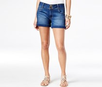 Thalia Sodi Cuffed Denim  Shorts, Dark Rinse Wash