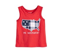 Graphic-Print Cotton Tank, Red Amore
