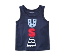 First Impressions Graphic-Print Cotton Tank, Navy