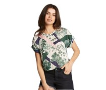 Kiind Of Printed Crop Blouse, Brunswick Green