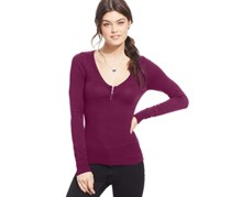 Energie Juniors' Zipper-Detail Pullover Sweater,Rapsberry