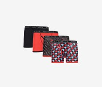 Perry Ellis Boy's 4-Pack Boxer Brief, Black/Red/Orange