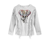 Jessica Simpson Elephant Sweatshirt, Heather Grey