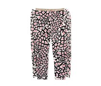 Jessica Simpson Big Girls Merselle Fringe Leggings, Black/White/Pink