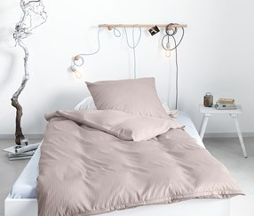 Satin Duvet Set, Double, Gray