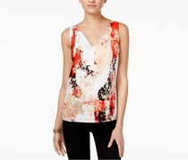 Bar III Women's Printed T-Back Top, Taupe