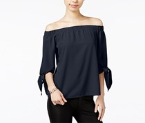 Bar III Women's Off-The-Shoulder Top, Navy Blazer