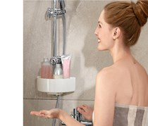 Shower Organizer, White Bright