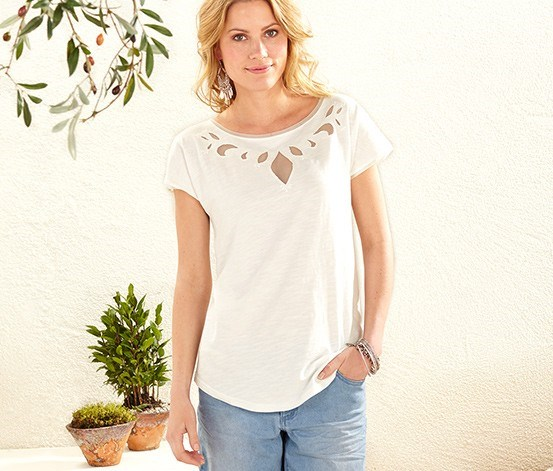 Women's Shirt, Embroidery, White
