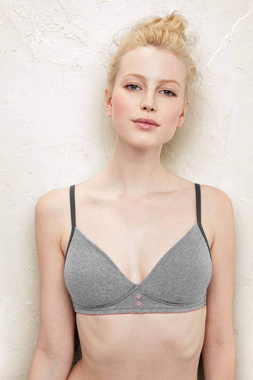 Women's Comfort Soft Bra, Striped