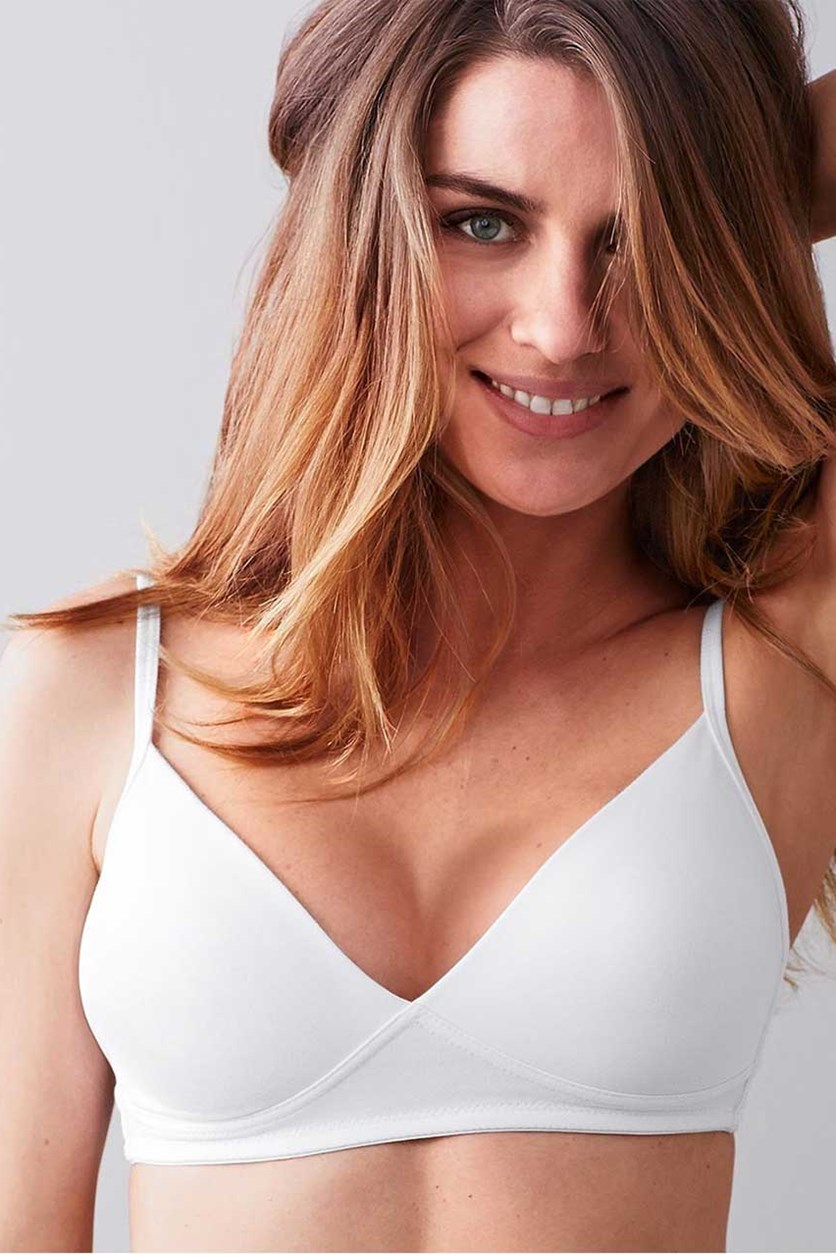 Women's Comfort Soft Bra, White