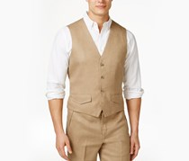 Tasso Elba Mens Linen Vest, Safari Tan