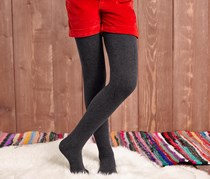 Girl's Tights Set of 2, Red/Anthracite