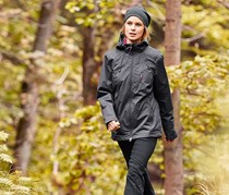 Women's Functional Outdoor Jacket, Dark Gray