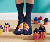Cup Cake Socks 2 Pairs, Navy