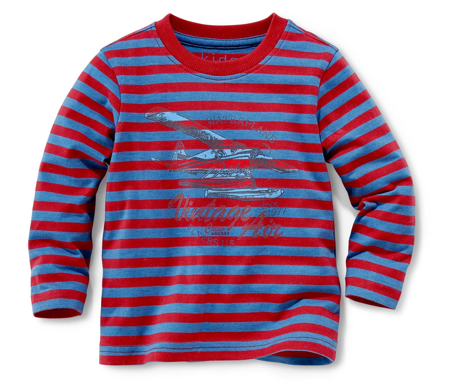 Boy 39 s shirt long sleeve 2 pieces red blue striped blue for Red blue striped shirt