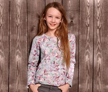 Girl's Sweater Printed, Multi-Color