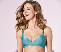Women's Underwired Bra, Petrol Melange