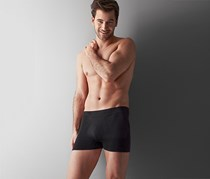 Men's Slip Boxer, Set of 2, Seamless, Black